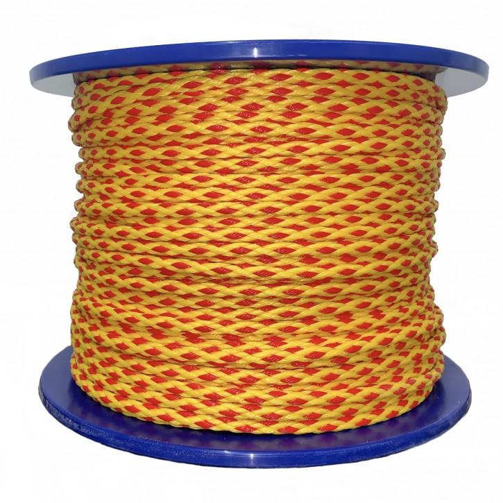 """Schleppleine """"High Performance"""", vorgereckt, Ø7 mm, 200 m, gelb/rot"""