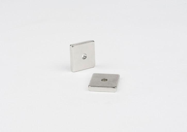 Magnet für Aluschlitten, 20x20x5mm, 4-eckig